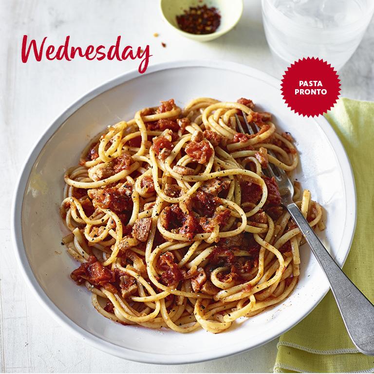 SW recipe: Bacon, chilli and tomato spaghetti