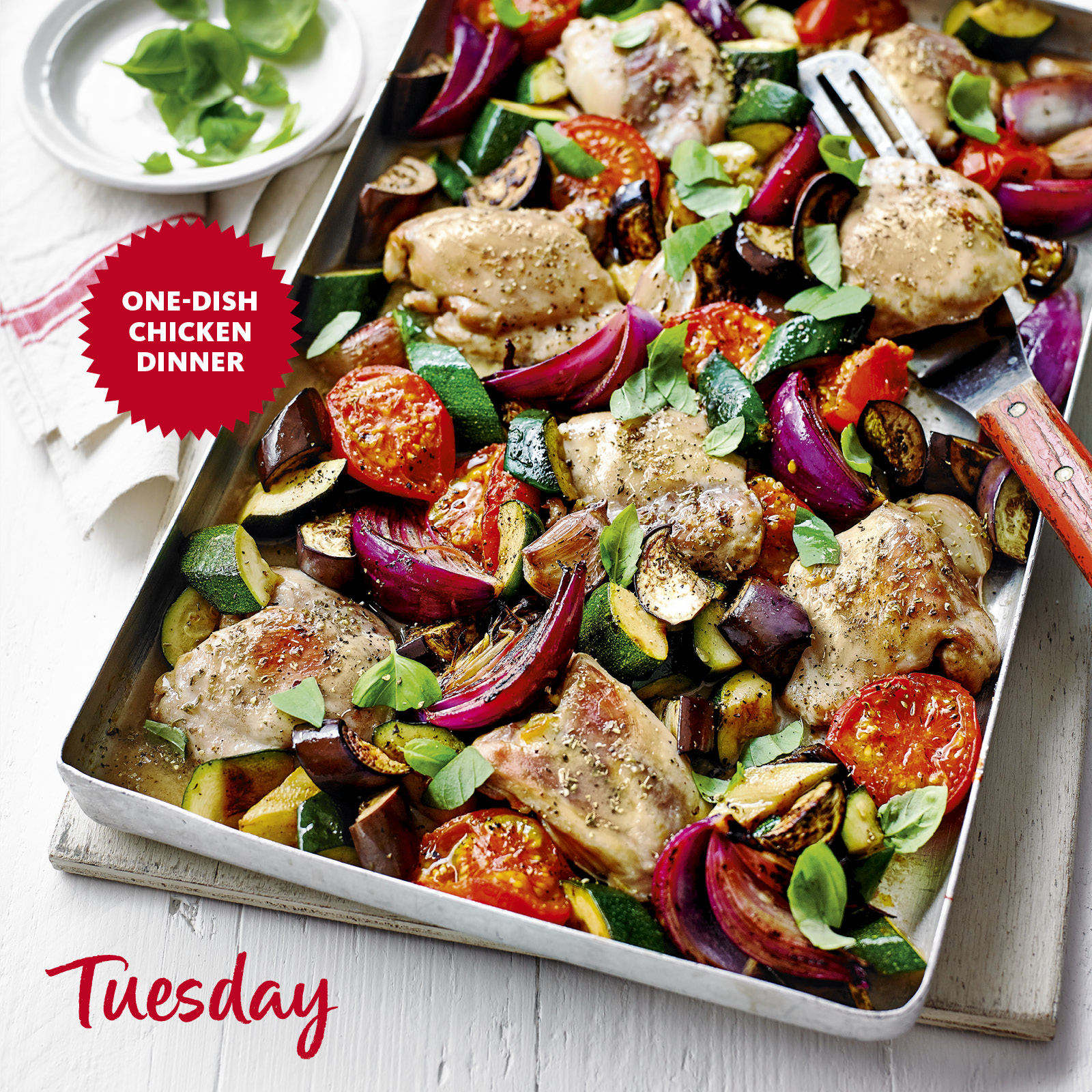 SW recipe: Ratatouille chicken tray bake