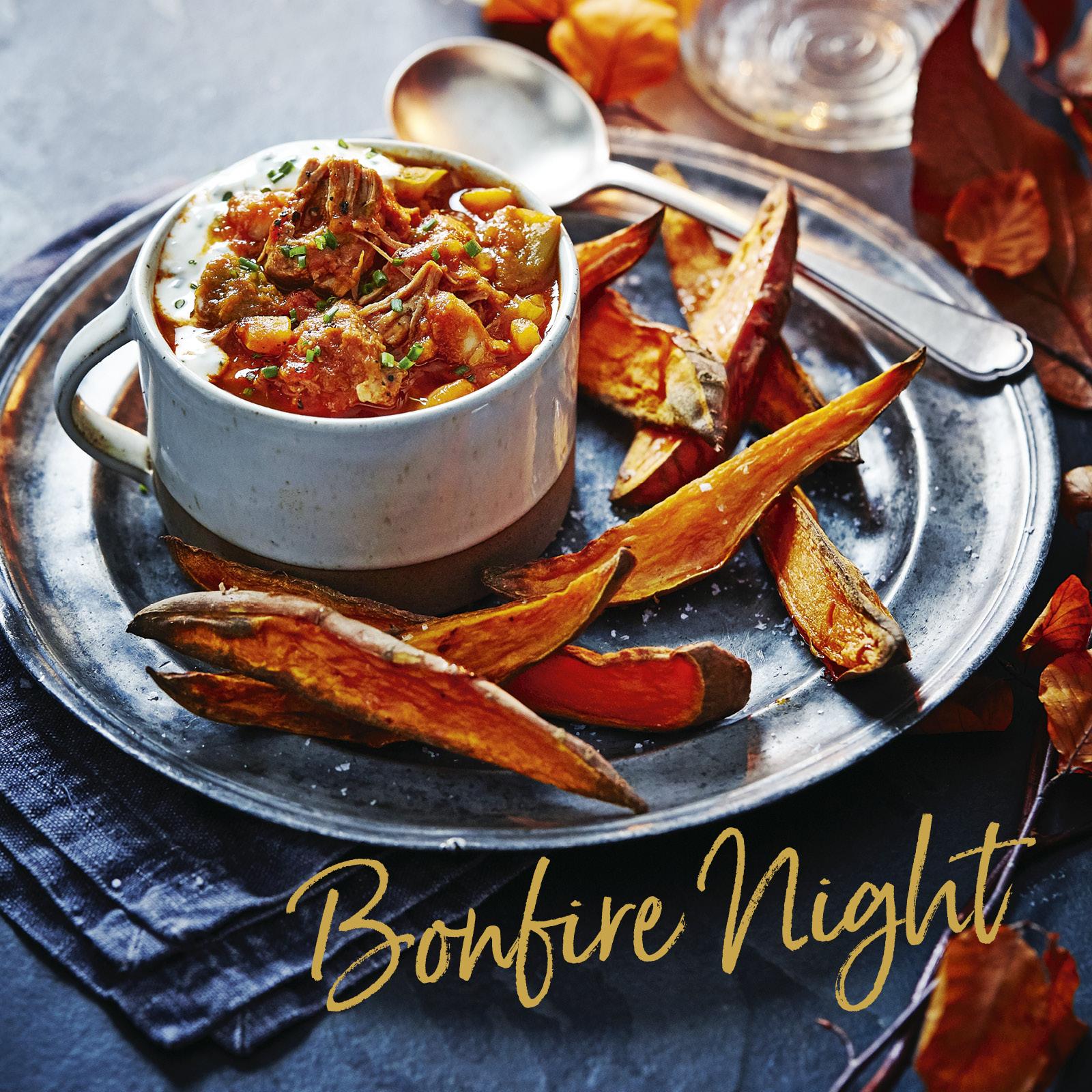SW recipe: Smoky pork and bean stew with garlic yogurt and sweet potato wedges