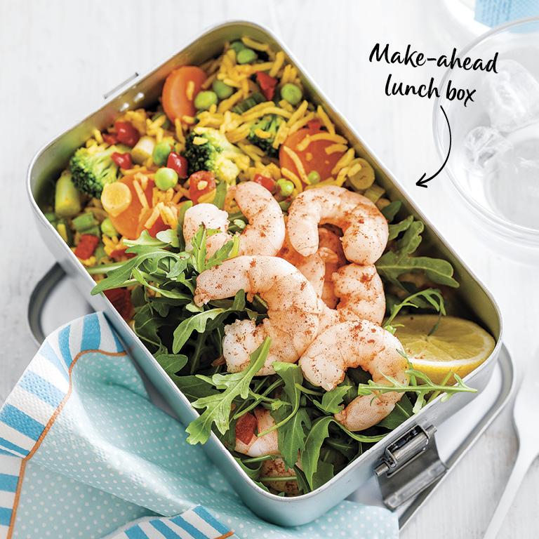 SW recipe: Prawn paella rice salad