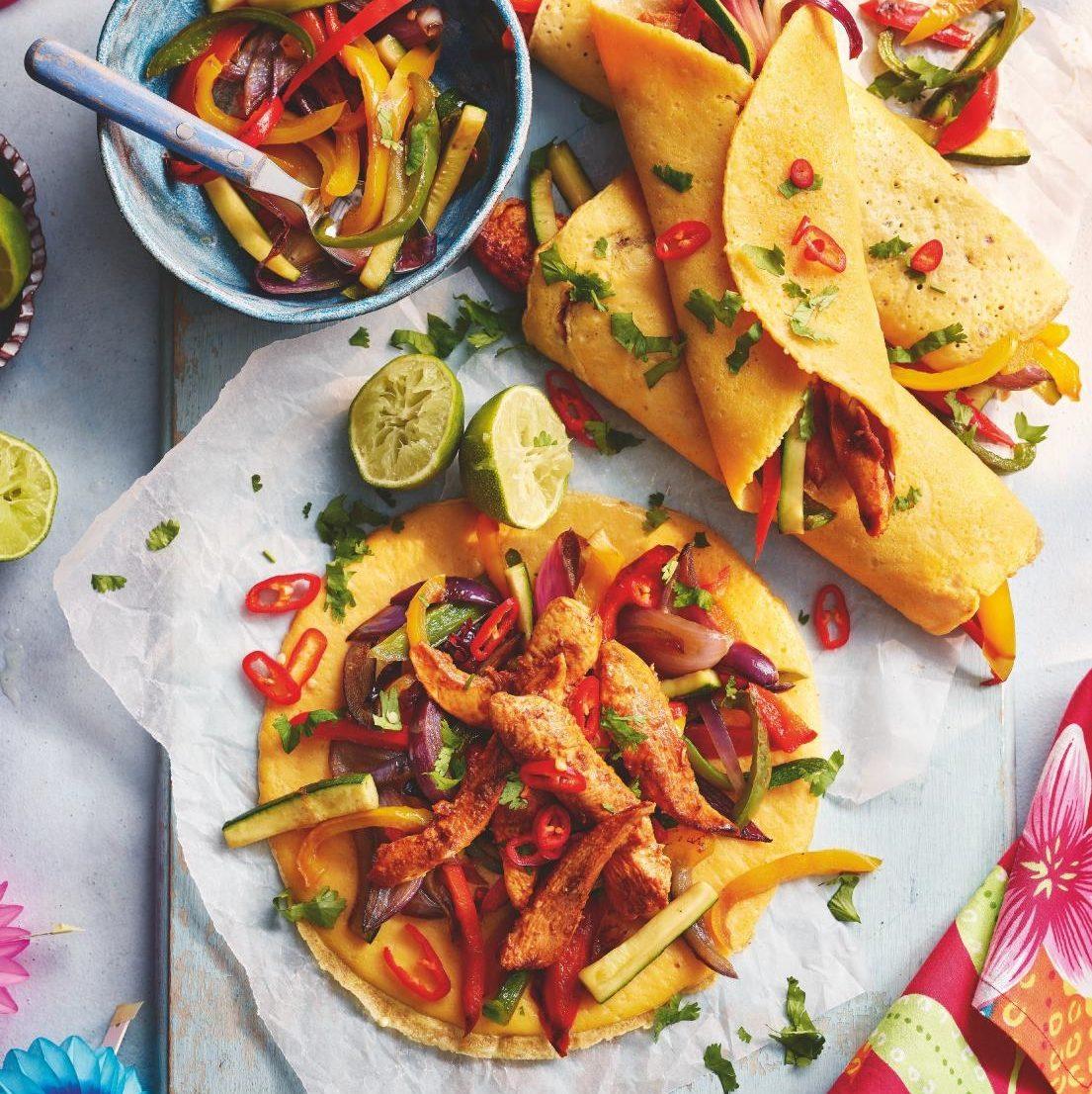 SW recipe: Chicken and vegetable fajitas