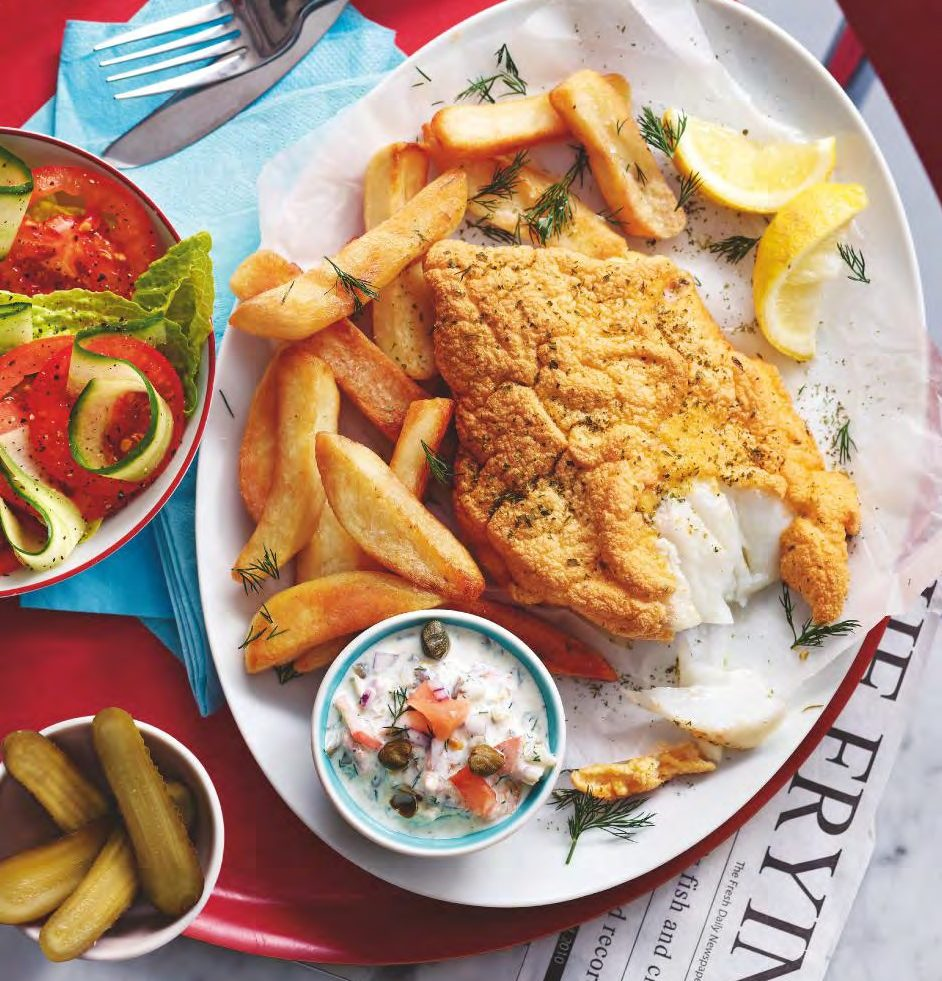 SW recipe: Fish & chips with tartare sauce