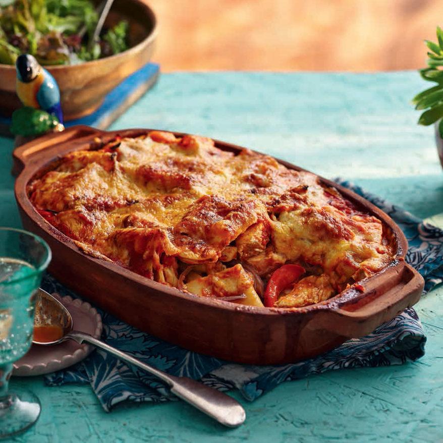 SW recipe: Chicken fajita pasta bake
