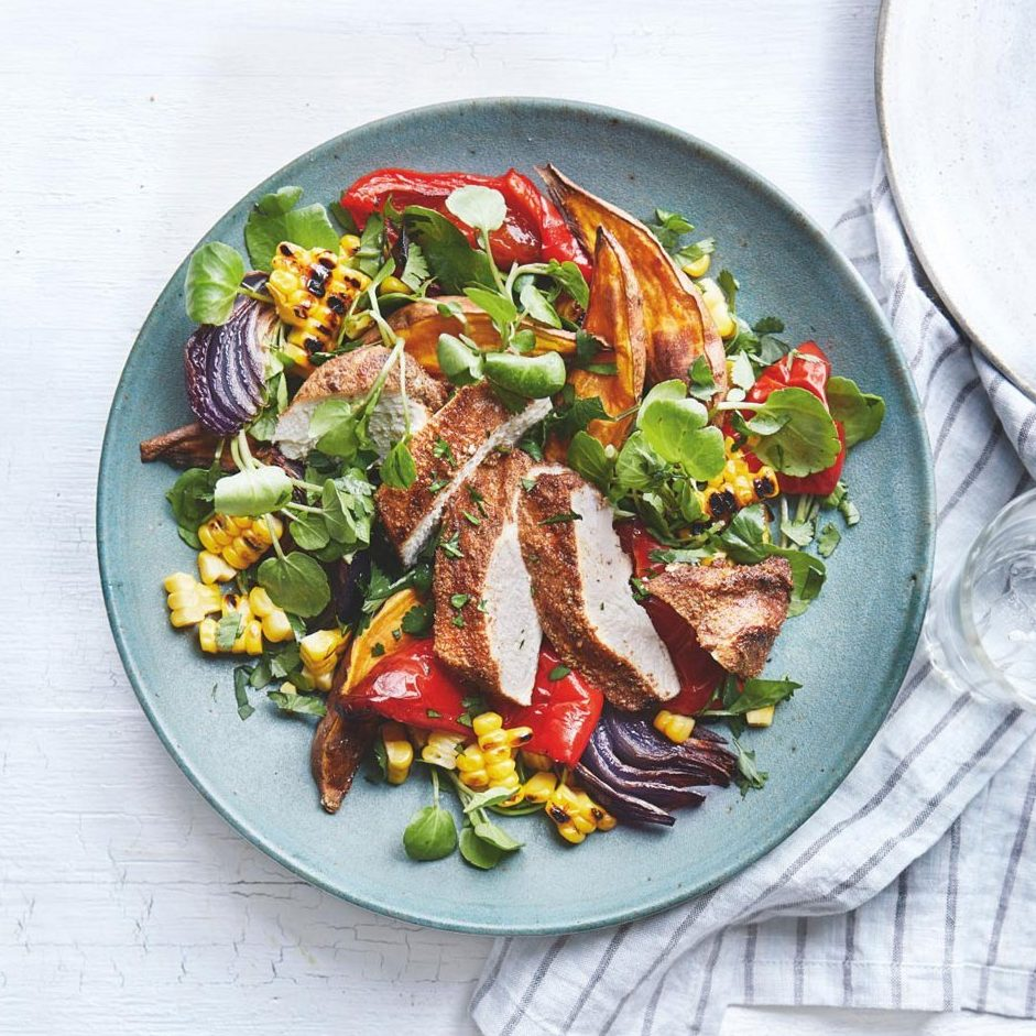 SW recipe: Mexican chicken & sweet potato salad with sweetcorn