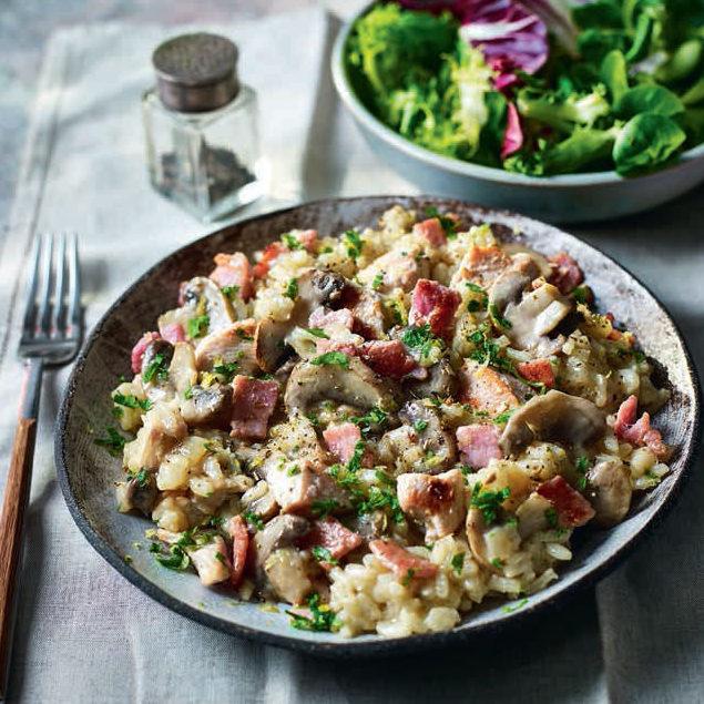 SW recipe: Chicken, bacon and mushroom risotto