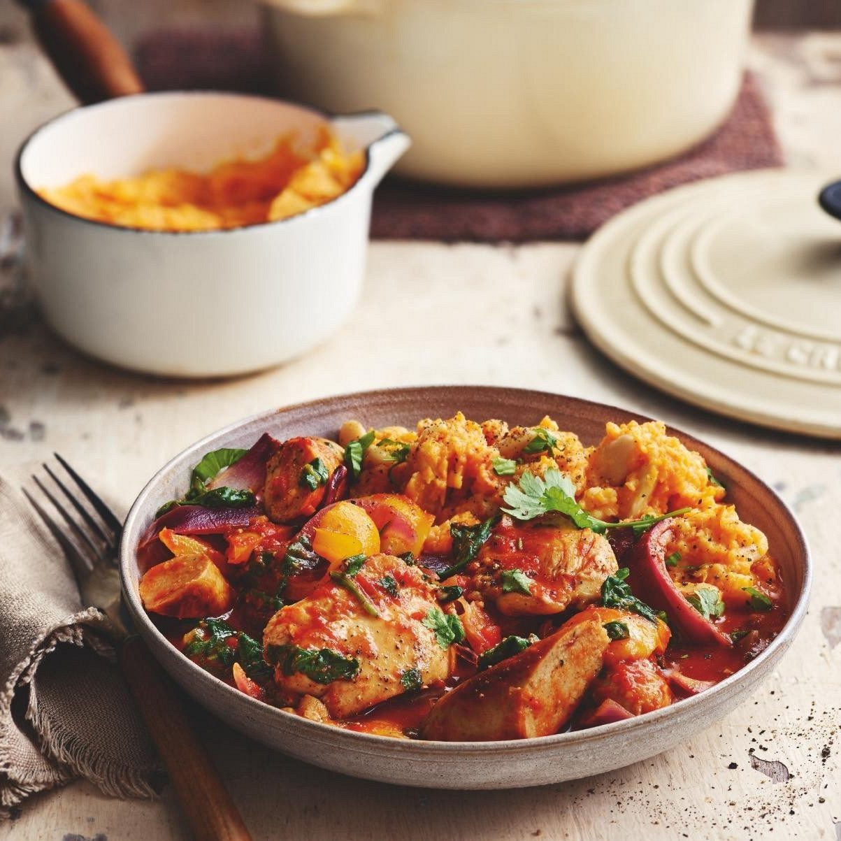 SW recipe: Sausage and chicken stew with butterbean mash