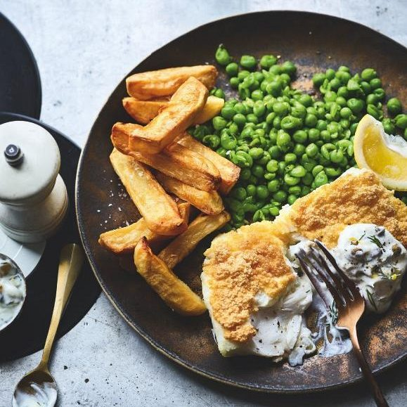 SW recipe: Battered fish, chips and peas with tartare sauce