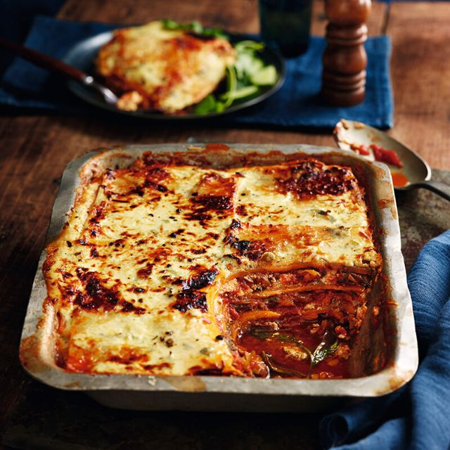SW recipe: Mushroom and spinach butternut squash lasagne