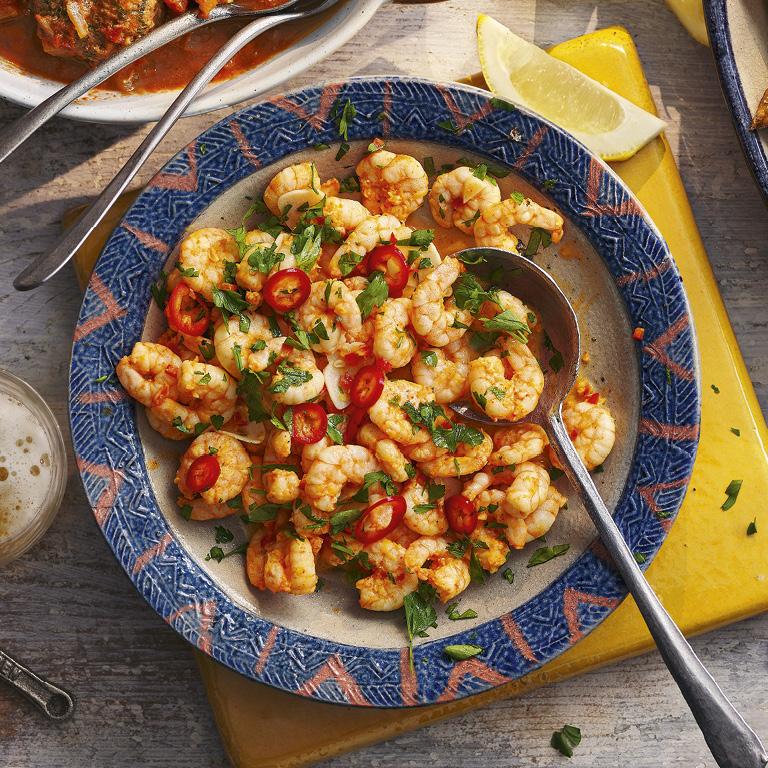 SW recipe: Garlic and chilli prawns