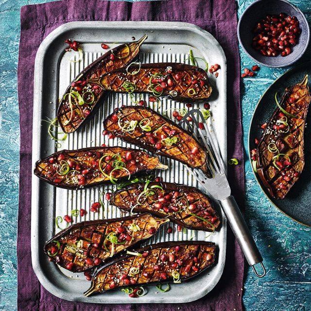 SW recipe: Miso and honey roasted aubergines