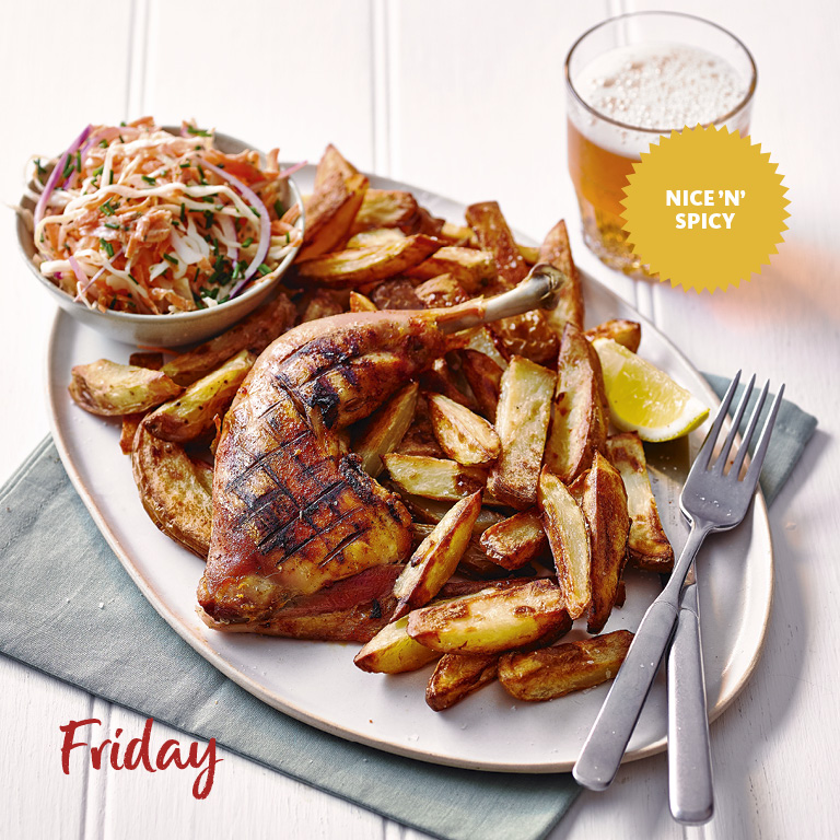 SW recipe: Piri-piri chicken, chips and coleslaw