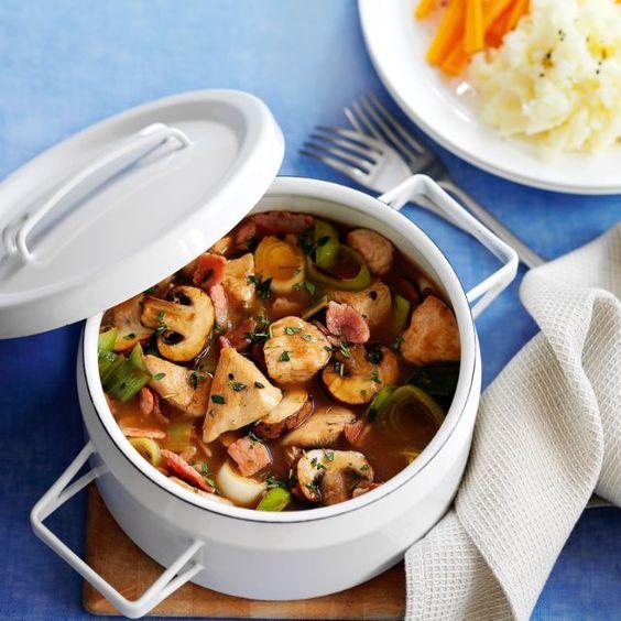 SW recipe: Turkey, bacon and thyme hotpot