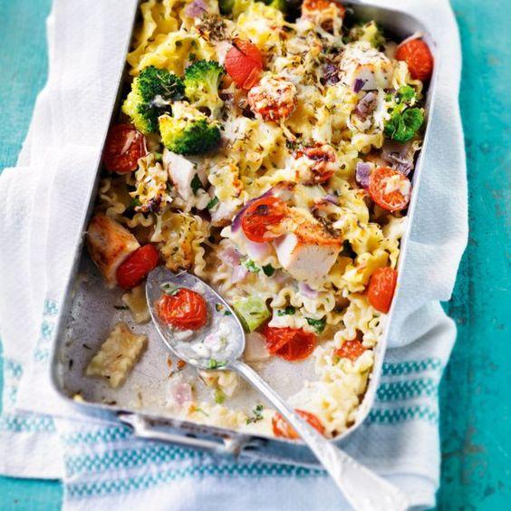 SW recipe: Chicken and cherry tomato pasta bake