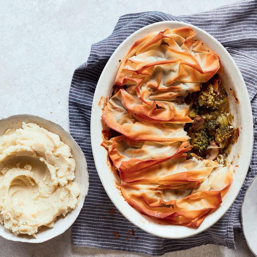 SW recipe: Mushroom, leek and broccoli pie