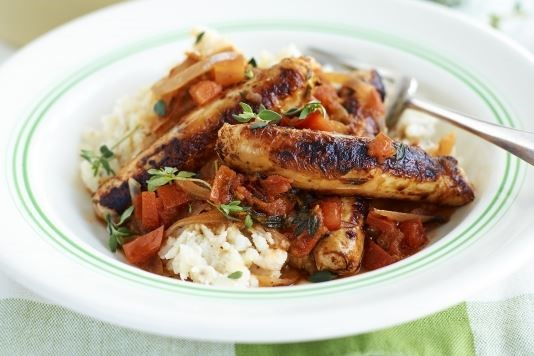 SW recipe: Sausage and cauliflower bean mash