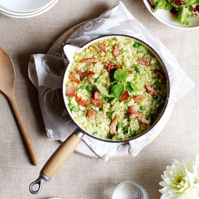SW recipe: Bacon and pea risotto